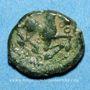 Coins Bellovaques. Région de Beauvais. Bronze à l'astre, vers 60/35 av. J-C