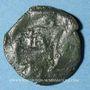 Coins Bituriges Cubi. Région de Bourges. Bronze au loup, 1er siècle av. J-C