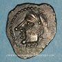 Coins Bituriges Cubi. Région de Bourges. Denier au glaive et au pentagramme. 1er siècle avant J-C.