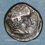 Coins Bituriges Cubi. Région de Bourges. Drachme au cavalier et à la main. 1er siècle avant J-C.