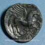 Coins Carnutes. Région de Chartres - Pixtilos. Bronze au griffon, classe VI, vers 40-30 av. J-C