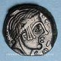 Coins Carnutes. Région de Chartres - Pixtilos. Bronze au temple, classe VIII, vers 40-30 av. J-C