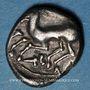 Coins Cavares. Avignon. Drachme au bouquetin de la classe II,  vers 90-75 av. J-C