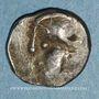 Coins Eduens. Bourgogne. Quinaire à la tête casquée, 1er siècle av. J-C