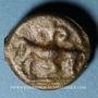 Coins Leuques. Région de Toul. Potin à la tête casquée, 2e - 1er siècle av. J-C