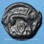 Coins Leuques. Région de Toul. Potin classe Ic sanglier à droite, 1er siècle av. J-C