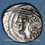 Coins Lingones. Région de Langres. Conte. Denier, vers 80 - 50 av. J-C
