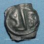 Coins Lingones. Région de Langres. Oyindia. Potin à la tête janiforme, 2e - 1er siècle av. J-C