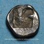 Coins Marseille. Hémiobole milésiaque à la tête de veau, 500-470 av. J-C. Type du trésor d'Auriol