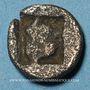 Coins Marseille. Obole phocaïque à la tête d'Athéna, 470-460 av. J-C