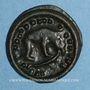 Coins Rémi. Région de Reims. Potin au bucrâne, 1er siècle av. J-C.