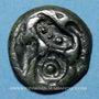 Coins Sénones. Région de Sens. Potin au profil fruste, 1er siècle av. J-C