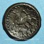 Coins Suessiones. Région de Soissons. Potin au grand profil, 2e -1er siècle av. J-C
