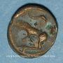 Coins Turones. Région de Tours. Potin à la tête diabolique, vers 80-50 av. J-C