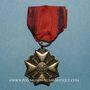 Coins Belgique. Décoration civique 1914-1918. Médaille argent de 2e classe. 1/2 réduction