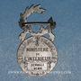 Coins Médaille d'Honneur de la Police française. 2e modèle. Argent (poinçon 1er titre)