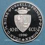 Coins Andorre. Principauté. 10 diners 1996. Couronnement de Charlemagne. (PTL 925‰. 31,47 g)