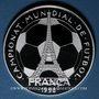 Coins Andorre. Principauté. 10 diners 1997. 16e coupe du Monde de Fottball - France