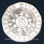 Coins Autriche. 5 euro 2002. 200e anniversaire du jardin zoologique de Schönbrunn