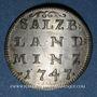 Coins Autriche. Archevêché de Salzbourg. Andreas Jakob, comte de Dietrichstein (1747-1753). 4 kreuzer 1747