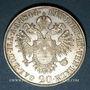 Coins Autriche. Ferdinand I (1835-1848). 20 kreuzers 1844A. Vienne