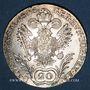 Coins Autriche. François II, empereur du Saint Empire (1792-1806). 20 kreuzers 1806C
