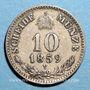 Coins Autriche. François Joseph I (1848-1916). 10 kreuzer 1859M. Milan
