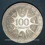 Coins Autriche. République. 100 schilling (1974). Jeux olympiques d'hiver d'Innsbruck - Emblème olympique