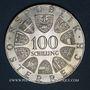 Coins Autriche. République. 100 schilling 1975. Johann Strauss