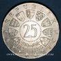 Coins Autriche. République. 25 schilling 1960. 40e anniversaire du référundum de la Carinthie