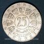 Coins Autriche. République. 25 schilling 1961. Burgenland