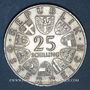Coins Autriche. République. 25 schilling 1964. Grillparzer