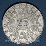 Coins Autriche. République. 25 schilling 1967. Marie-Thérèse