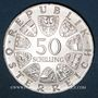 Coins Autriche. République. 50 schilling 1974. 50e anniversaire de la Radio autrichienne