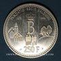Coins Belgique. Albert II (1993- 2014). 250 francs (1996). 20e anniversaire de la Fondation Baudouin