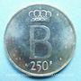 Coins Belgique. Baudouin I (1951-1993). 250 francs 1976. Légende flamande, tranche avec étoiles