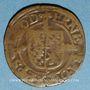 Coins Belgique. Evêché de Liège. Ernest de Bavière (1581-1612). 1/2 liard n. d. (1581-1612)