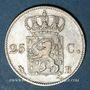 Coins Belgique. Guillaume I (1815-1840). 25 cent 1824B. Bruxelles