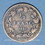 Coins Belgique. Léopold I (1831-1865). 1/2 franc 1835
