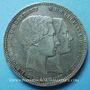Coins Belgique. Léopold I (1831-65). Module de 5 francs 1853 Mariage du duc et de la duchesse de Brabant