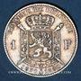 Coins Belgique. Léopold II (1865-1909). 1 franc 1880. Type du cinquantenaire