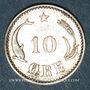 Coins Danemark. Christian IX (1863-1906). 10 öre 1889
