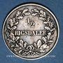 Coins Danemark. Frédéric VII (1848-1863). 1/2 rigsdaler 1854FK/VS