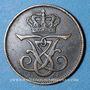 Coins Danemark. Frédéric VIII (1906-1912). 2 öre 1912