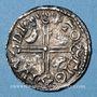 Coins Danemark. Hardeknud ou Knut le Hardi (1035-1042). Denier, Lund.