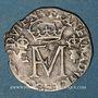 Coins Ecosse. Marie Stuart et François II (1558-1560). Gros ou nonsunt 1559