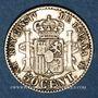 Coins Espagne. Alphonse XII (1874-1885). 50 centimos 1885/86MS-M