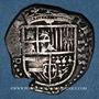 Coins Espagne. Philippe II (1556-1598). 2 réaux 1588 P (horizontal). Séville