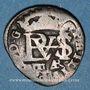 Coins Espagne. Philippe III (1598-1621). 1/2 real (1614)AR. Ségovie