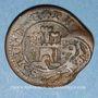Coins Espagne. Philippe IV (1621-1665). 6 maravedis 1641-1643, contremarqué 14 maravedis 1603. Ségovie